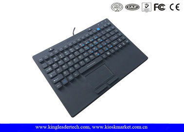 Customized Layout 87keys Waterproof Keyboard With On/Off Switch Built In Touchpad