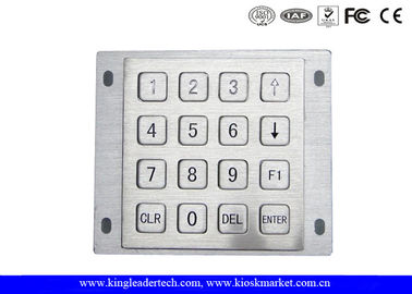 Numeric ATM Industrial Metal Keypad 16 Flat Keys For Panel Mount